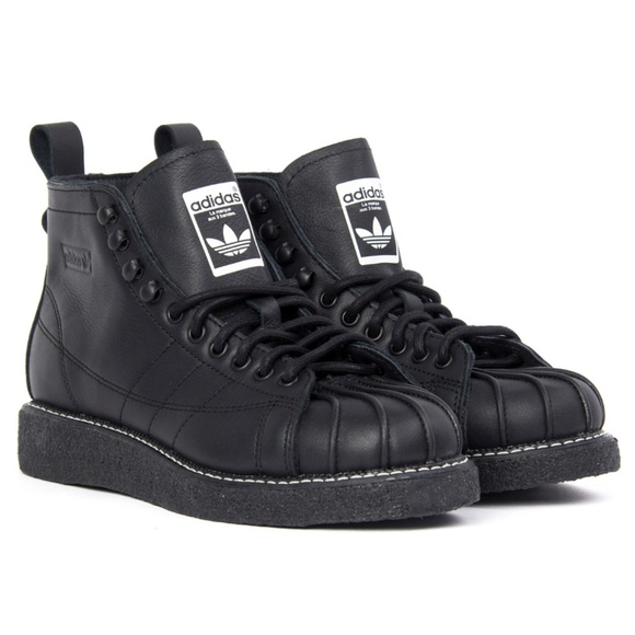 check out 42c49 39b63 Adidas Originals Superstar boots luxe black sz 8.5